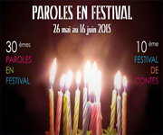 Festival paroles en rhone alpes 26 mai au 16  juin Lyon